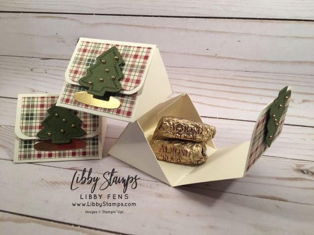 Libbystamps Stampin Up Triangle Treat Box Sweetly