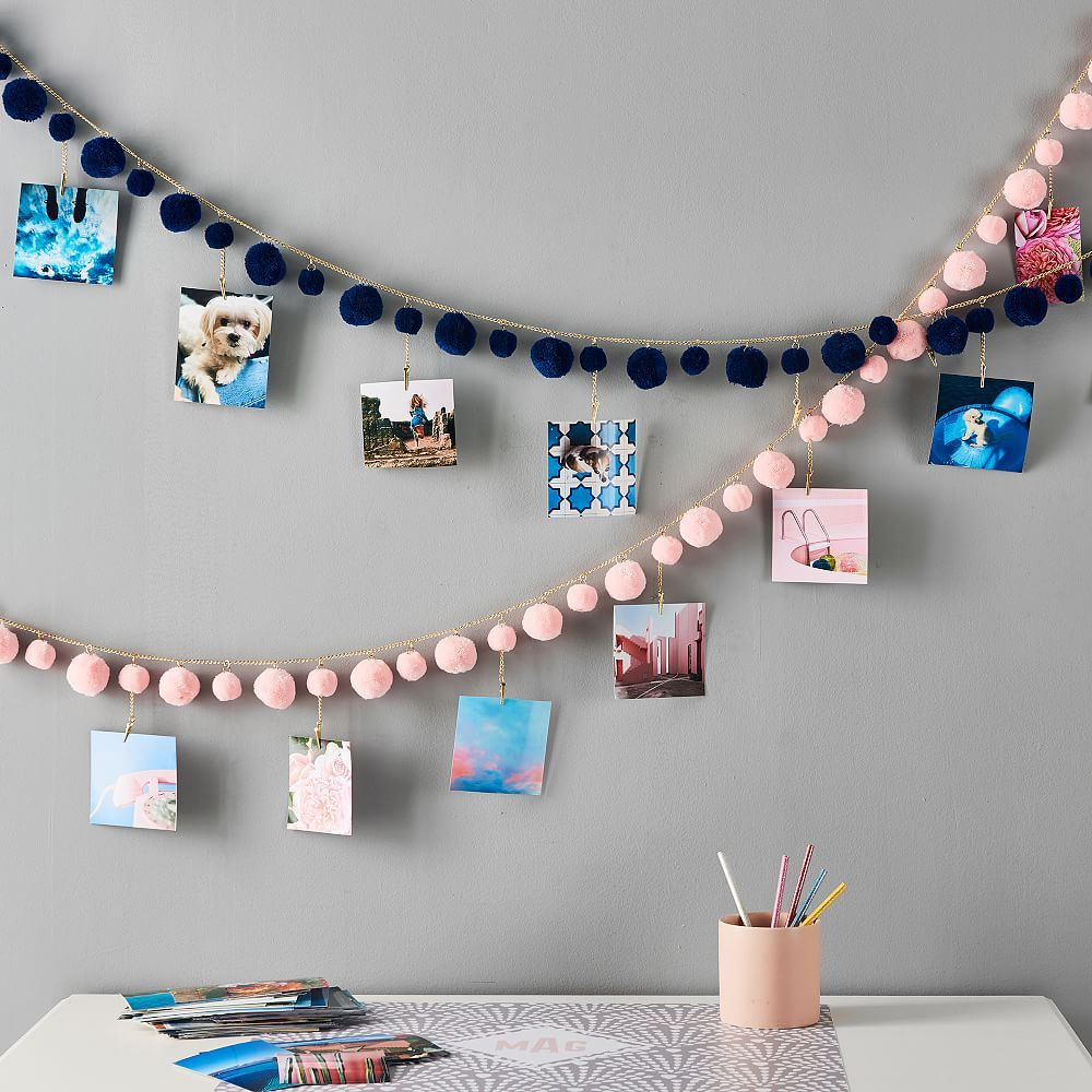 Pom Pom Photo Garland