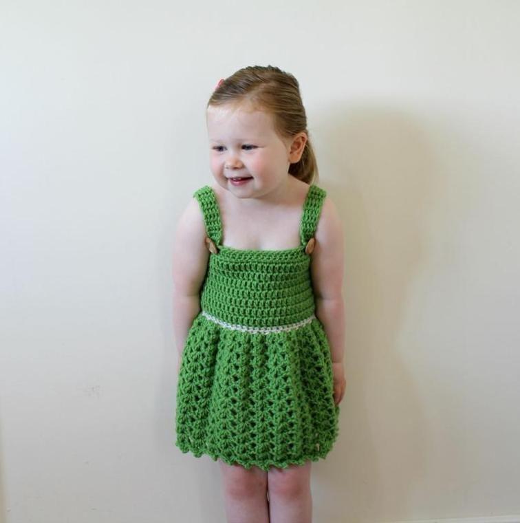 Crochet Shell Dress 1 2 Years Pdf29 Pdf Dresses And Crocheting