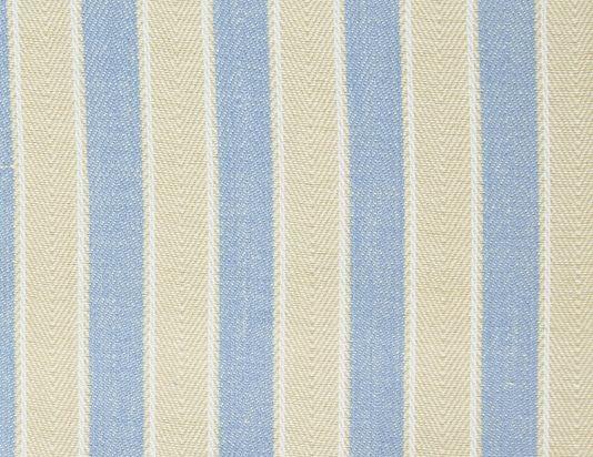 Cricket Stripe Fabric A Woven Herringbone Striped Of Light Blue And Dark Cream With