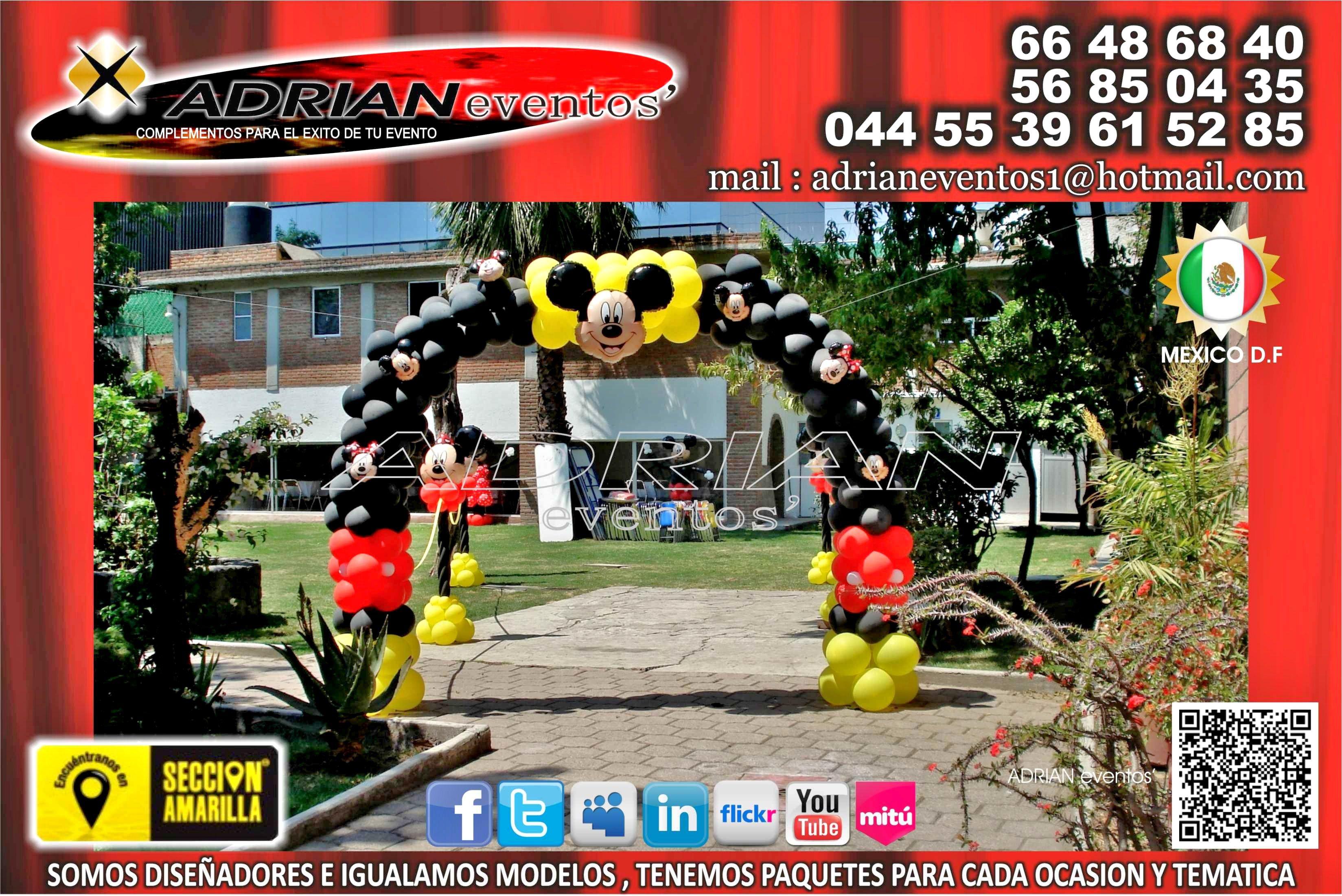 decoracion con globos para fiestas infantiles decoracion de mickey mouse fiestas infantiles