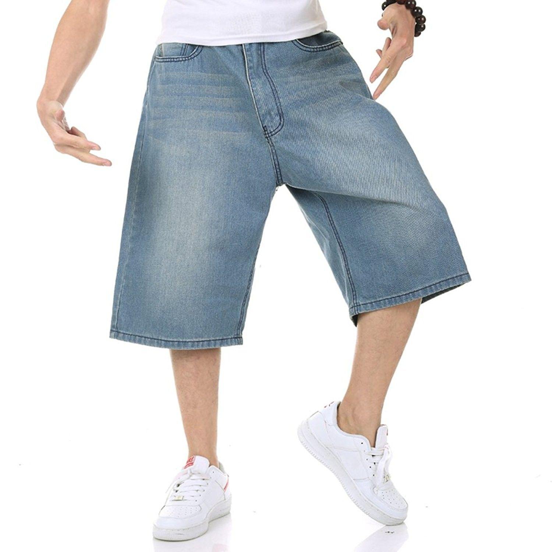 Men's Shorts Jeans Hip Hop Denim Shorts Relaxed Fit Baggy Style Simple  Plain Plus Size 30W-46W 13L - CS1836C2HNA | Mens jean shorts, Mens jeans, Mens  shorts