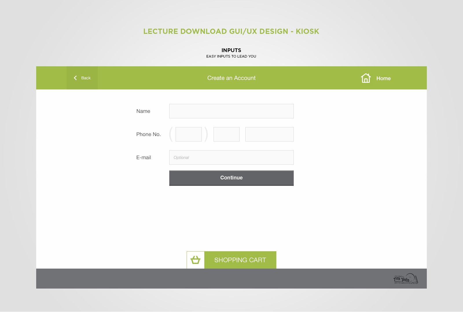 Kiosk UI/UX Design - Lecture Download on Behance | Graphic