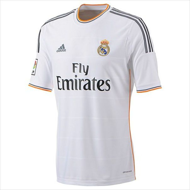 ... Mens 201314 Real Madrid Luka Modrić 19 White Home Soccer Jersey  820103337403 on eBid ... ef73729eb