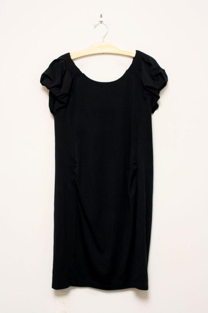 GAP Maternity Black Jersey Knit Dress Pouf Sleeves Size M #GAP #Sheath…