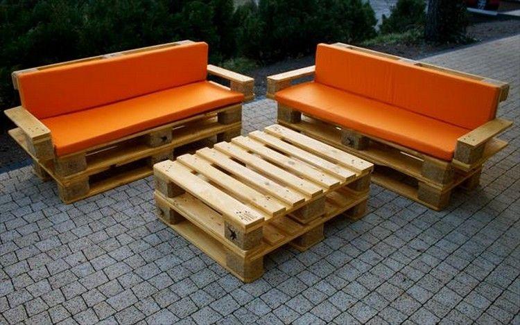 Pallet Furniture Plans Part - 24: Wood Pallet Patio Furniture Plans