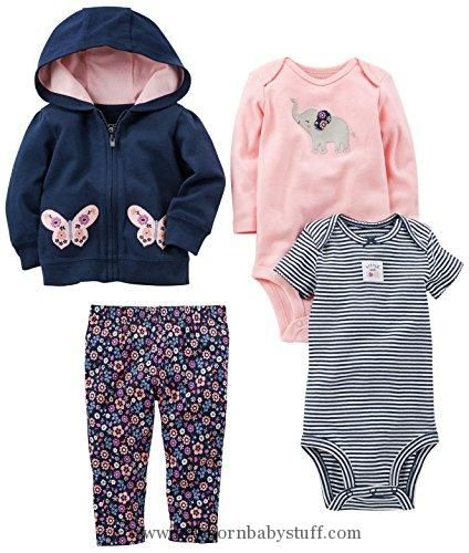 Girl 9 Months Carters Baby Girls 4-Piece