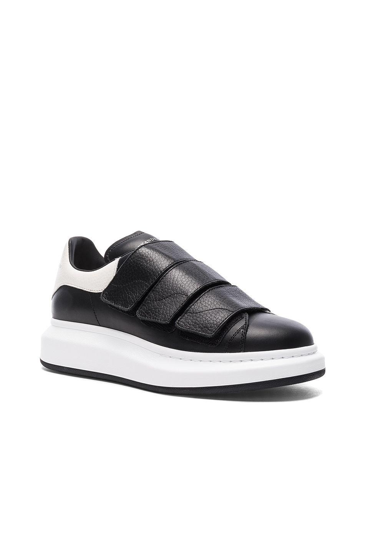 3c1819dcc950 ALEXANDER MCQUEEN Leather Platform Velcro Sneakers.  alexandermcqueen  shoes