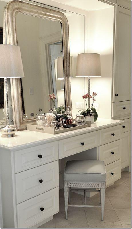 Bedroom Design Comfortable Bedroom Vanity Ikea With Ceramic Flooring And Wooden Tray Also White Table Lamp Dressing Table Design Bedroom Vanity Bedroom Design