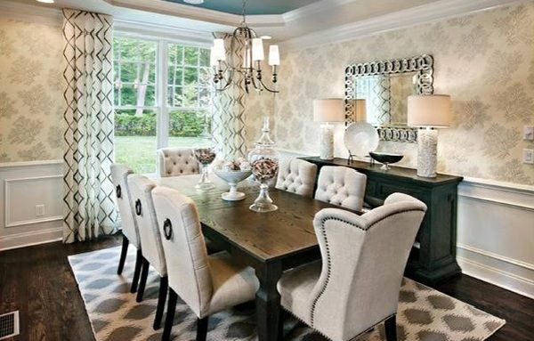 Contemporary Dining Room Design Ideas With White Marble Dining