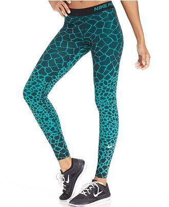 wholesale dealer 872b0 b789d Nike Pro Engineered Dri-FIT Giraffe-Print Leggings - Pants   Capris - Women  - Macy s