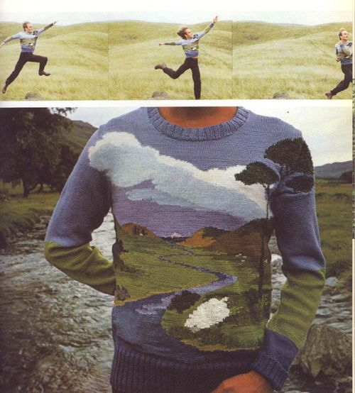 awesome: knitted landscape sweater!