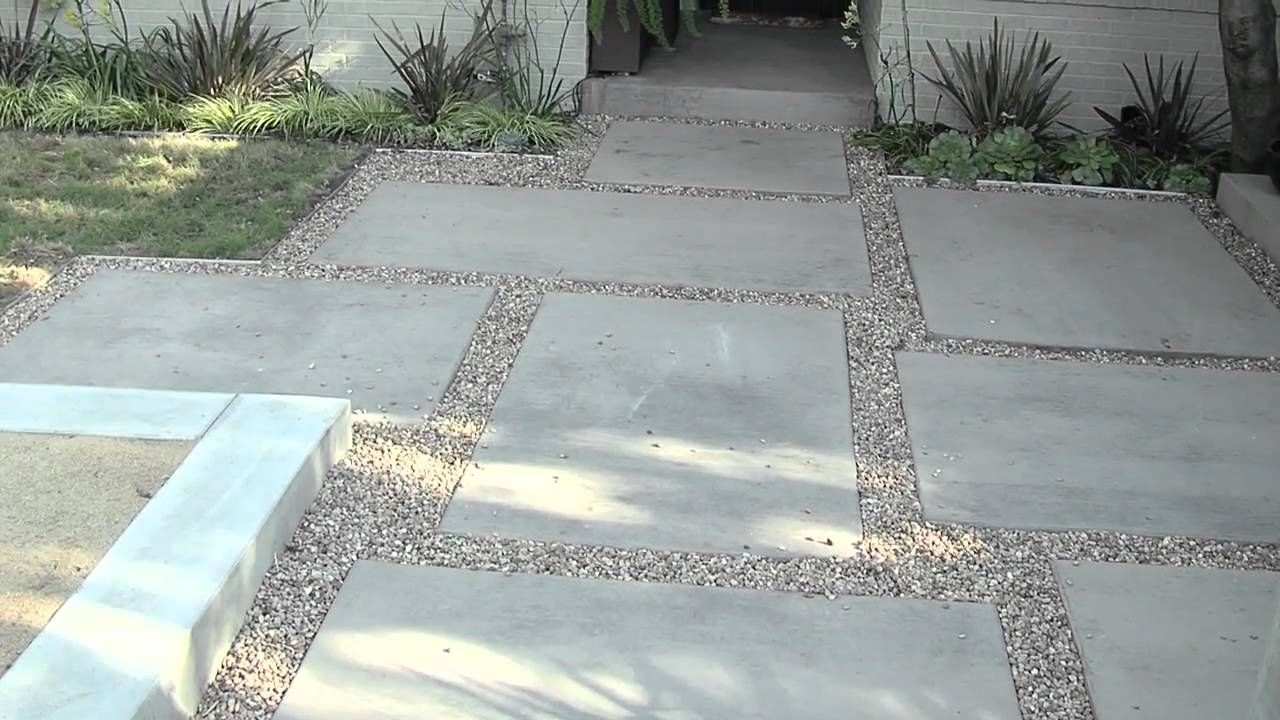 large pavers and peat gravel patio