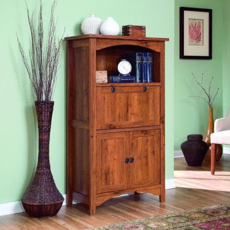 Amazon.com: Sauder Rose Valley Laptop Cabinet In Abbey Oak 404884:  Furniture U0026 · Computer ArmoireComputer ...