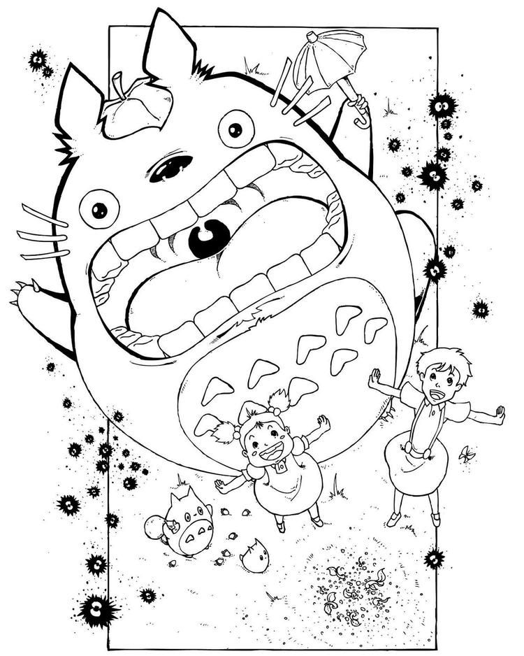 My Neighbor Totoro Anime Coloring Sheet For Kids Coloring Books Totoro Coloring Pages