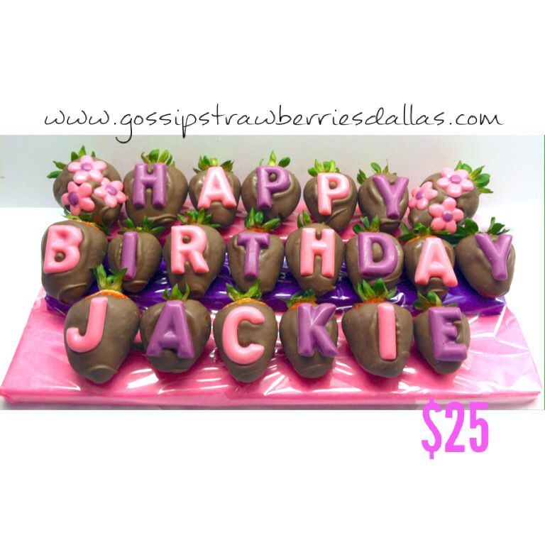 Order your loved one Happy Birthday Chocolate Covered