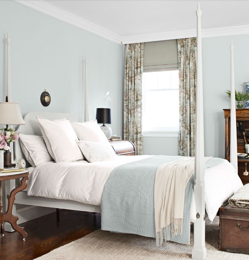 Paint Colour Cabbage White Farrow Ball Pale Blue Bedrooms Blue Rooms Blue Bedroom