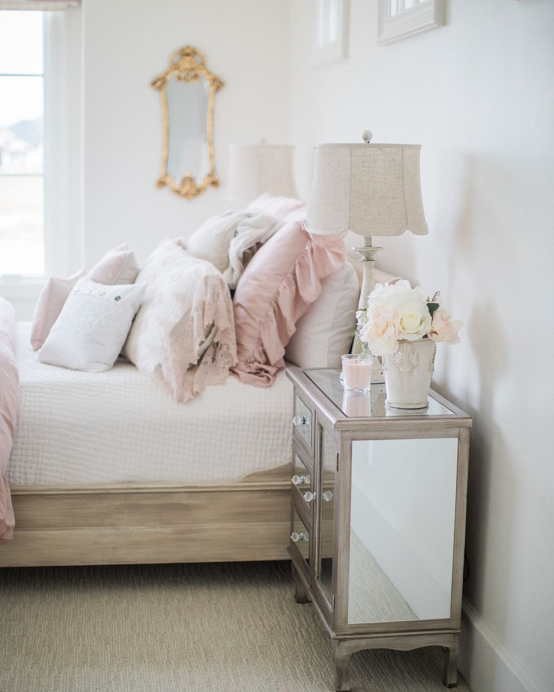 Get The Look Lovely Country French Bedroom Decorating With Gentle Palette Hello Lovely In 2020 French Country Bedrooms Tranquil Bedroom Country Girl Bedroom