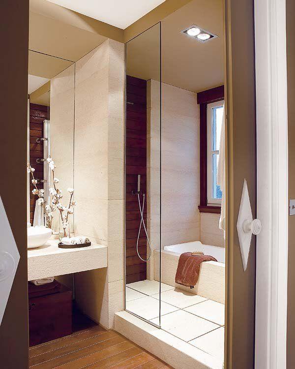 Baños con ducha y bañera | diseños | Bathroom, Bathroom toilets y Toilet