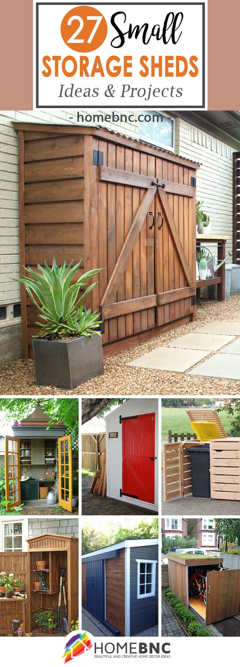 27 unique small storage shed ideas for your garden gardening