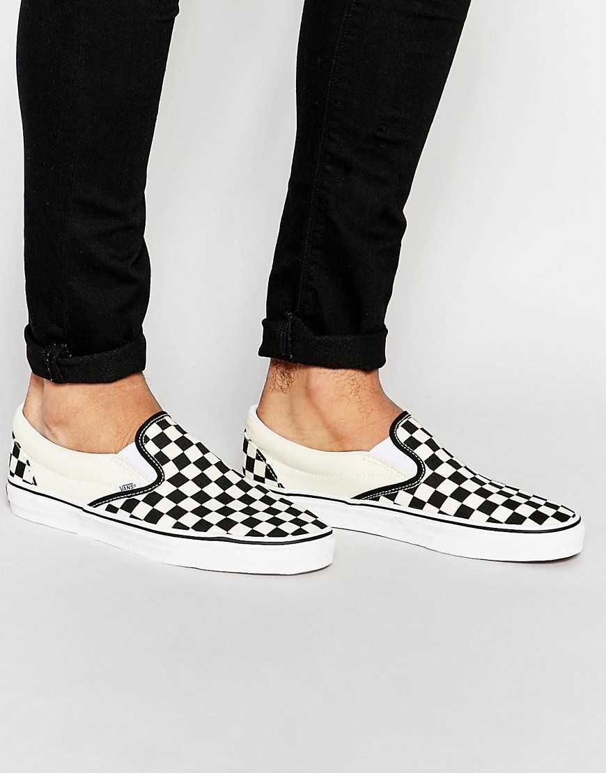 1d7cefc891084a Image result for vans checkerboard slip on men style