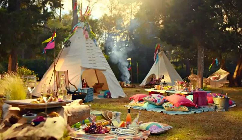 Marks & Spencer Summer Food TV ad campaign - using our tipi