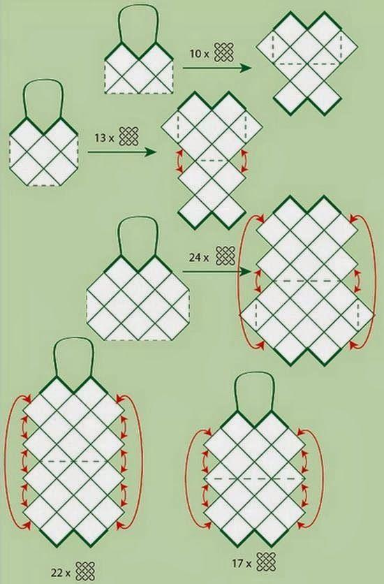 Stylish Easy Crochet: Patron au crochet pour sac à main – motif carré au crochet – sacs à la mode   – horgolás