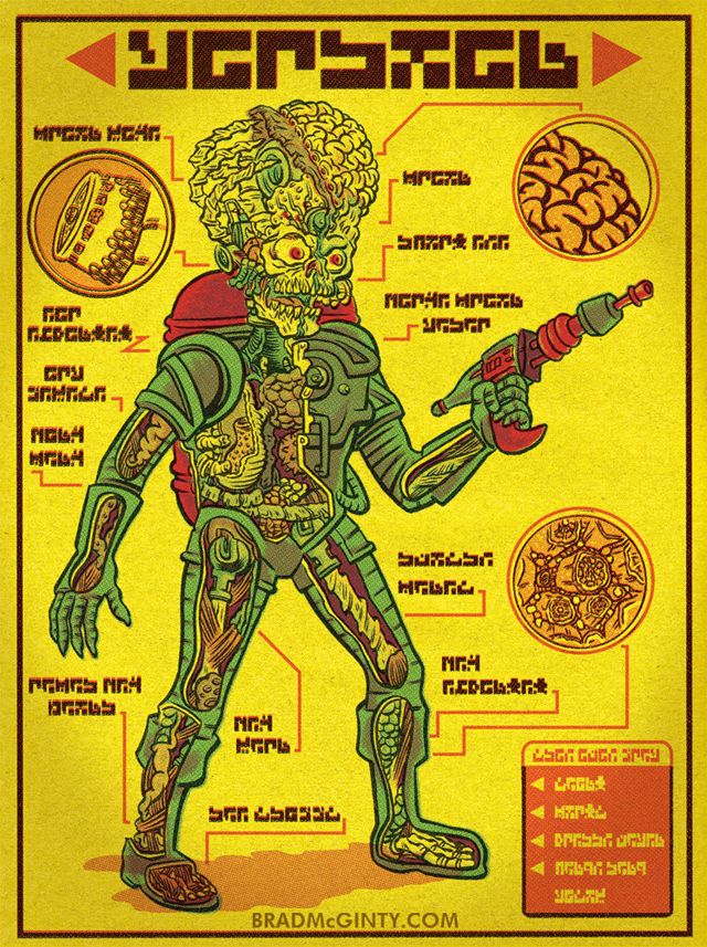 An Illustrated Anatomical Guide To Popular Monsters By Brad Mcginty Geek Art Monster Art Science Fiction Art