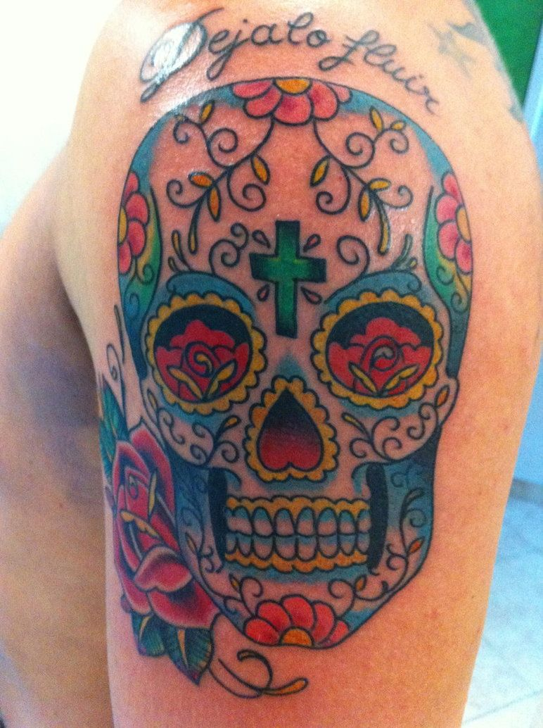 Colorful Skull Candy Tattoos Mexican Sugar Skull Color Tattoo By Marcossangre On Deviantart Candy Skull Tattoo Sugar Skull Tattoos Mexican Skull Tattoos