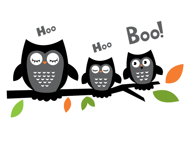 Image result for cute halloween owls  branch clip art