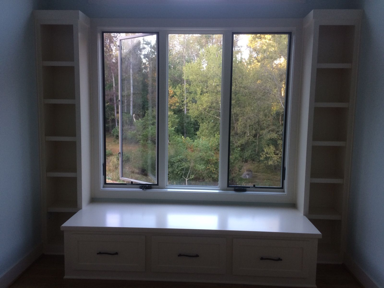 Made by Woodmaster Woodworks | Custom window seat, Window ...
