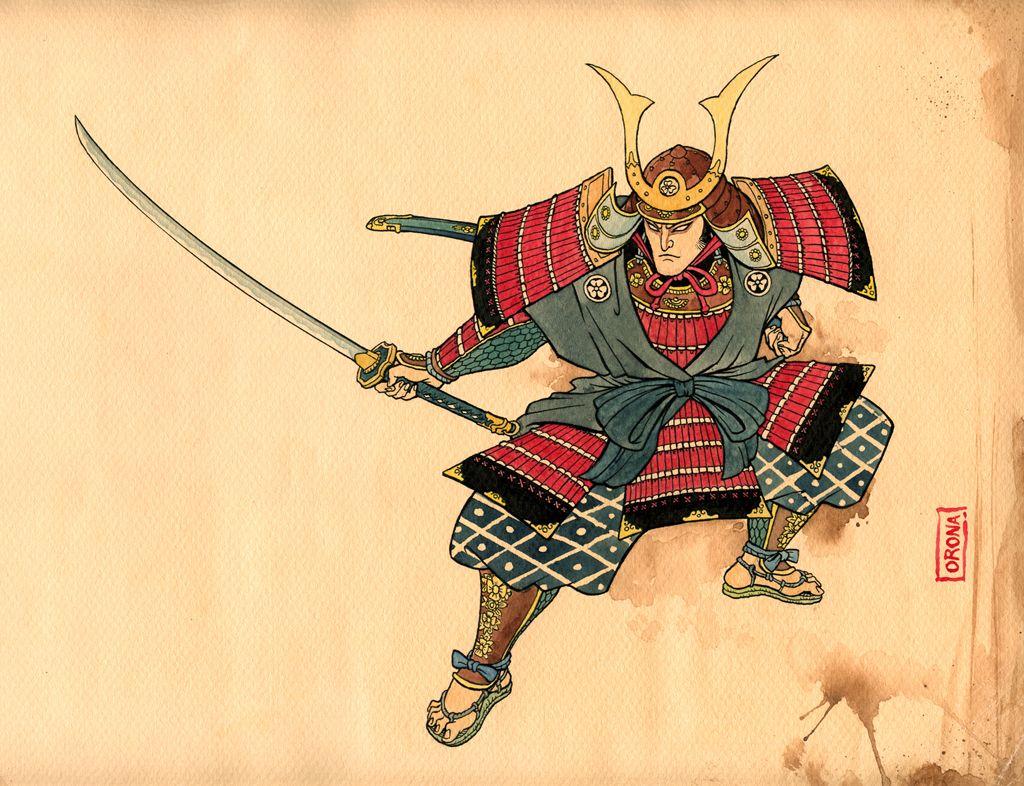 TRADITIONAL SAMURAI DRAWINGS | Samurai drawing, Samurai art ...