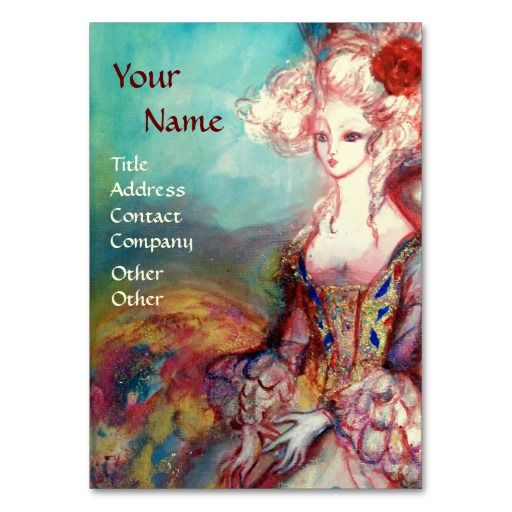 MADAME POMPADOUR Fashion,Costume Designer,Cosmetic Business Card | Zazzle.com