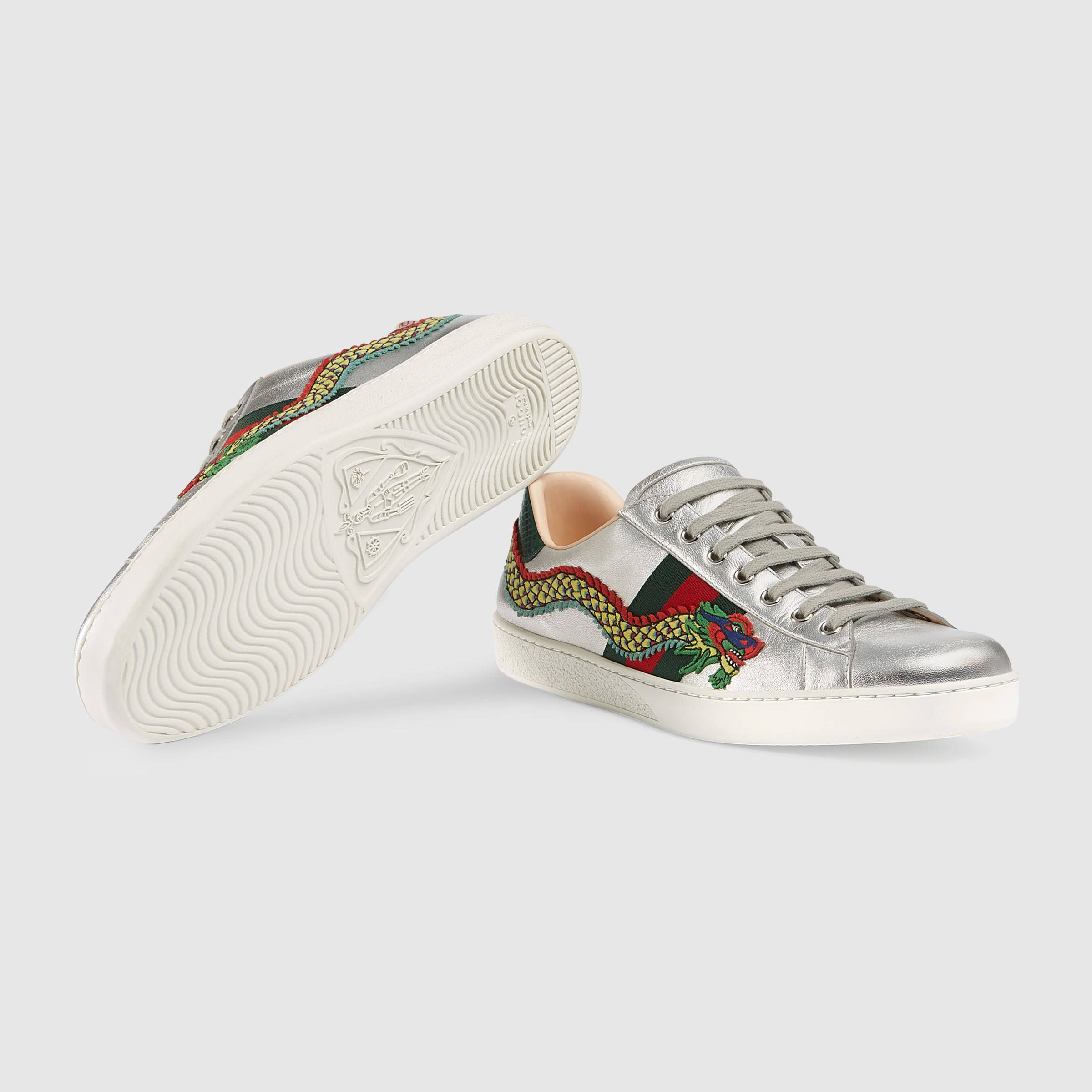 PickupGucci Ace Embroidered 🐝 Sneakers ...