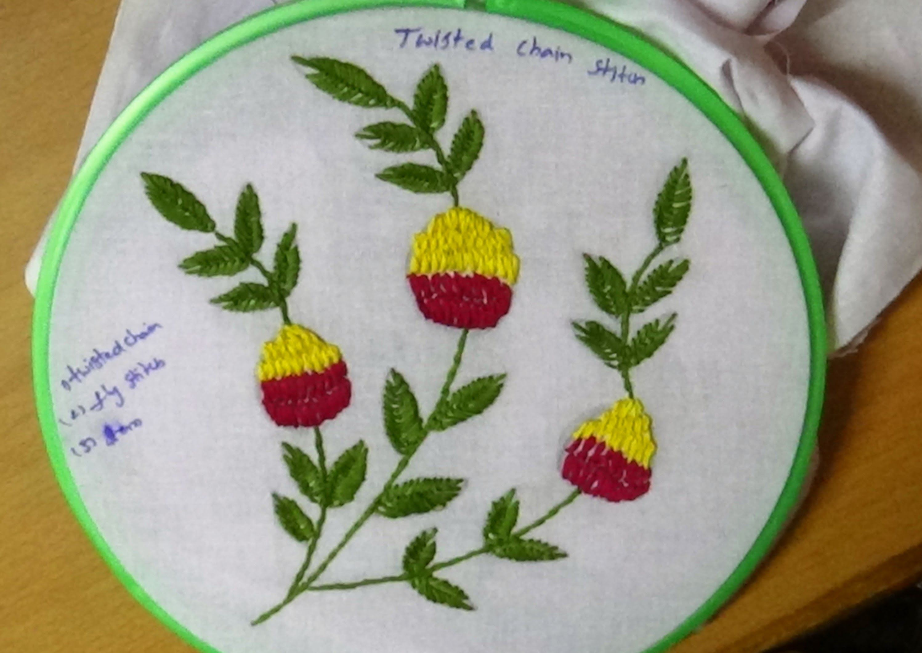 Simple Embroidery Designs For Chain Stitch