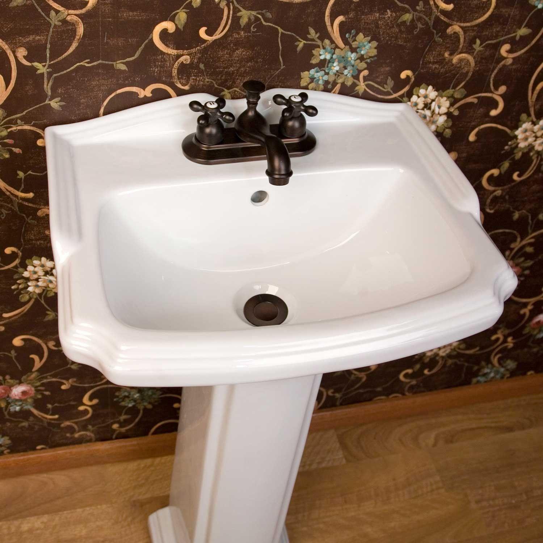 Halden Porcelain Pedestal Sink | Pedestal sink, Sinks and Victorian ...