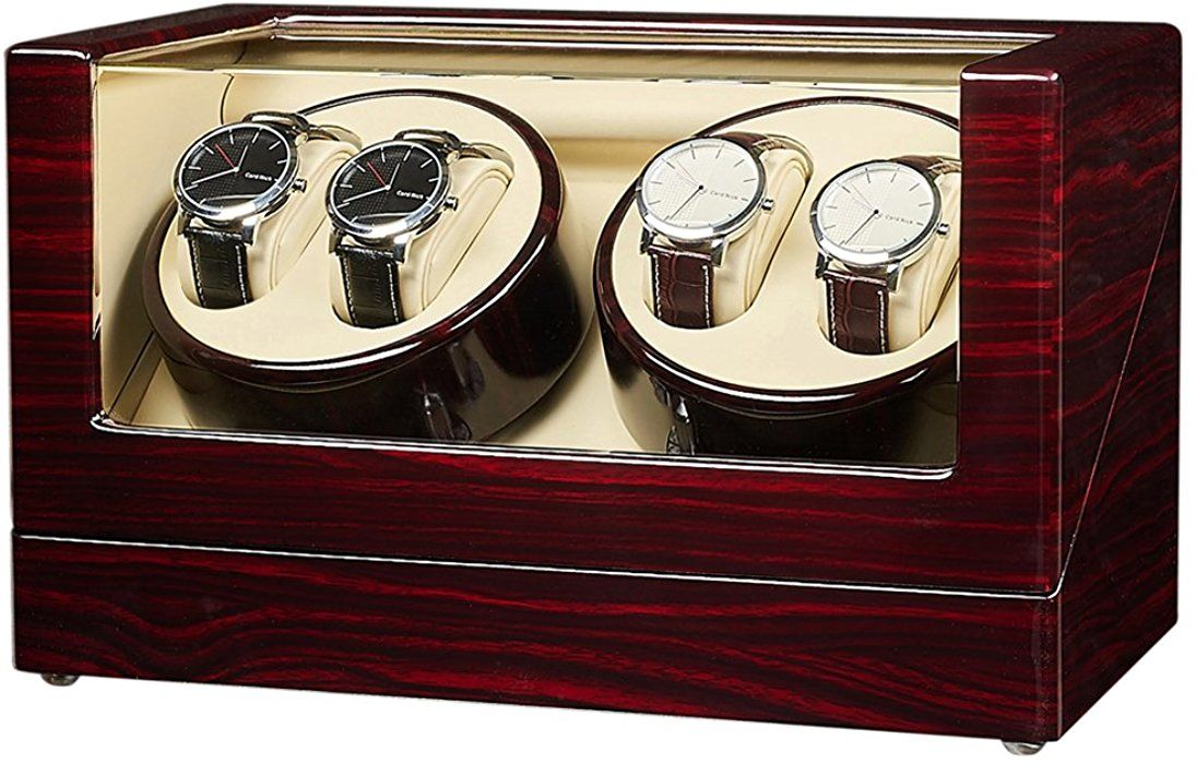 Amazon.com: JQUEEN Automatic Quad Watch Winder with Double ...