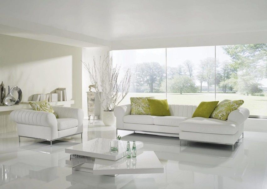 Wineo Laminat 550 White Hochglanzend Living Room Design Small Spaces Living Room Designs Marble Flooring Design