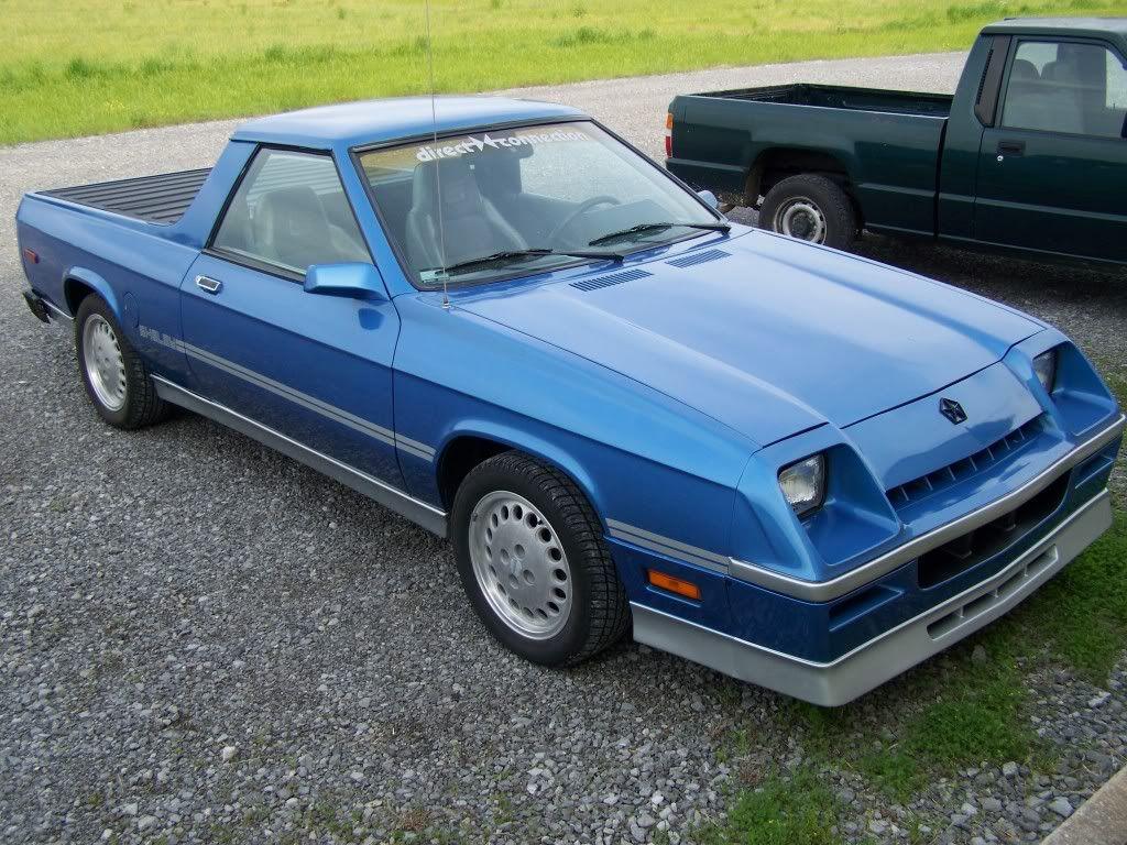 86 Shelby Dodge Rampage Blue W Slvr Mini Truck