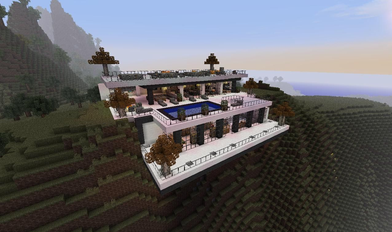 Minecraft desert homes modern minecraft cliffside mansion minecraft mansion