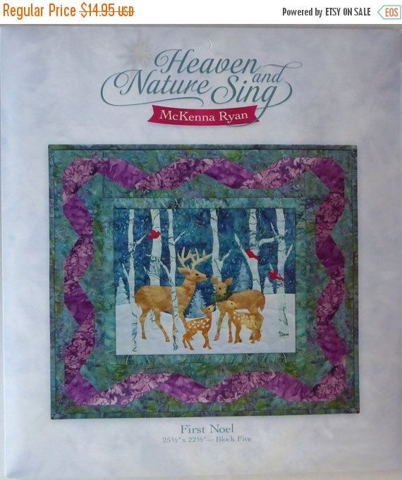 NEW YEAR SALE McKenna Ryan Heaven & Nature Sing~ First Noel~ Quilt ... : quilt sales - Adamdwight.com