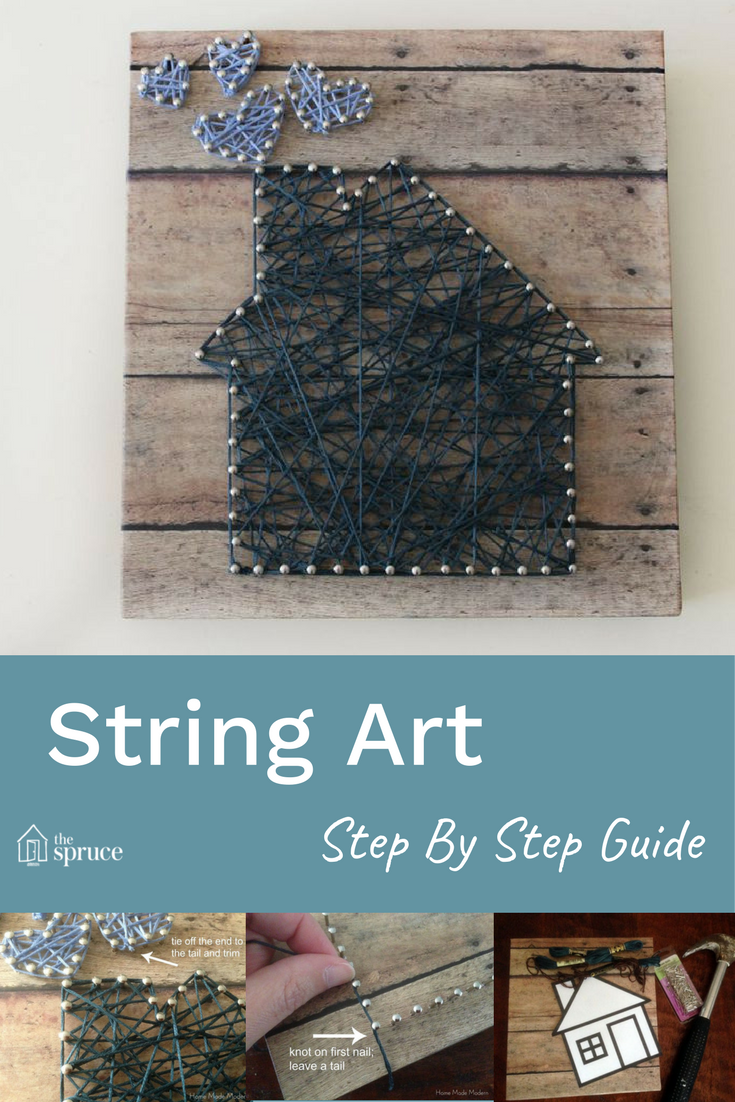 Easy handmade gift idea that's beautiful to boot! How to make a string art  guide -- instructions for the whole process!