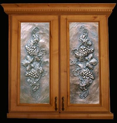 Art Metal Panels From Artful Inserts The Cabinet Door Panels Cabinet Door Designs Glass Cabinet Doors Kitchen Cabinets Glass Inserts