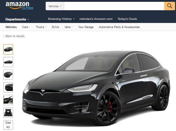 Amazon Now Sells The Tesla X Add To Cart 2016 Tesla X P90d Provided By Amazon Com Vehicles Tesla X Vehicles Tesla