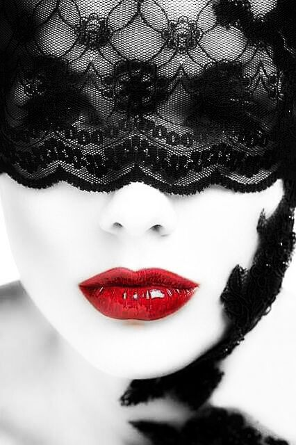 Black Lace And Red Lips Black White Red Black And Red Shades