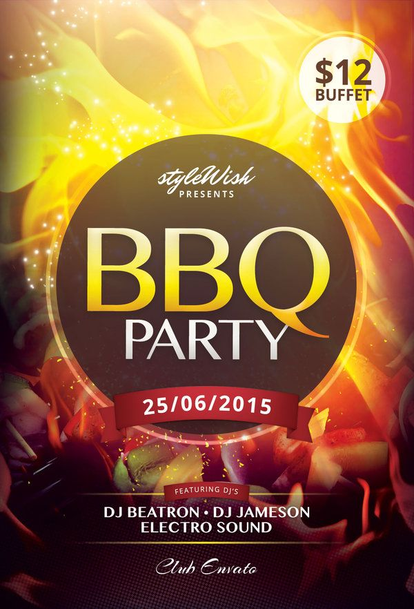 Bbq Party Flyer  Party Flyer Design Posters And Flyer Template