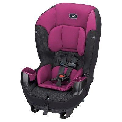 0b006a79254 Evenflo® Sonus Convertible Car Seat Berry Beet   Target