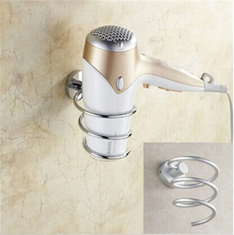 Buy Innovative Wall Mounted Hair Dryer Rack Space Aluminum Bathroom Wall  Shelf Storage Hairdryer Holder (Color: Multicolor) At Wish   Shopping Made  Fun