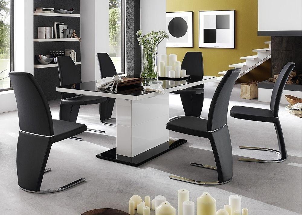 Esstisch Acorano ausziehbar Weiß Hochglanz 4682 Buy now at