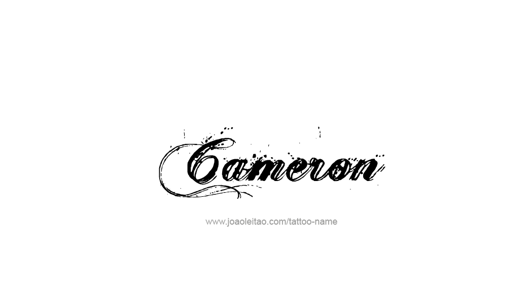 Cameron Name Tattoo Designs In 2020 Cameron Name Name Tattoo Name Tattoo Designs